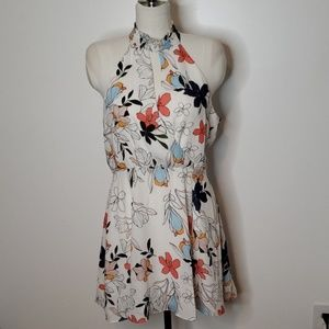 NWT Parker Floral Dress. White Moondance Size L